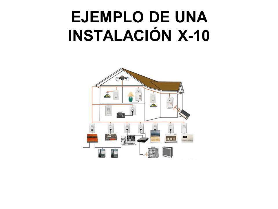 EJEMPLO DE UNA INSTALACIÓN X-10