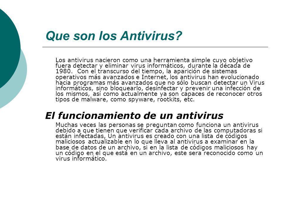 Que son los Antivirus.