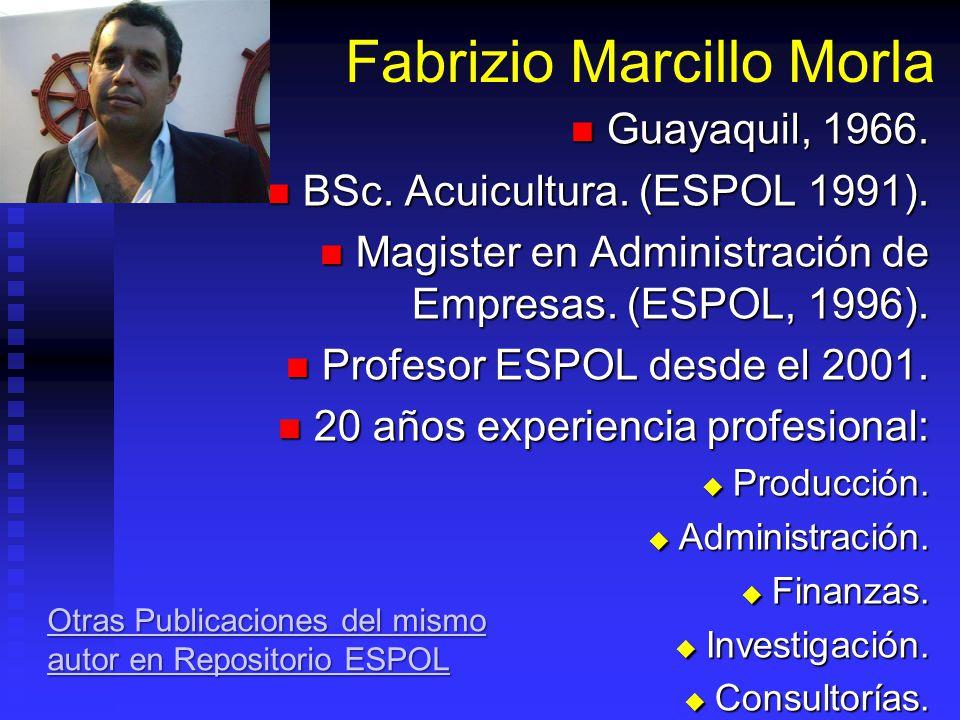 Fabrizio Marcillo Morla Guayaquil, 1966. Guayaquil, 1966.
