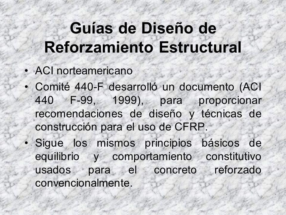 Guías de Diseño de Reforzamiento Estructural Dentro de este marco, se encamina la AC125, (cuya dirección en el web es : www.icbo.org) www.icbo.org