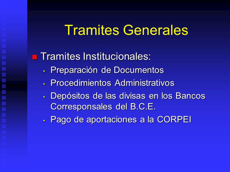 Tramites Generales Tramites Institucionales: Tramites Institucionales: Preparación de Documentos Preparación de Documentos Procedimientos Administrati