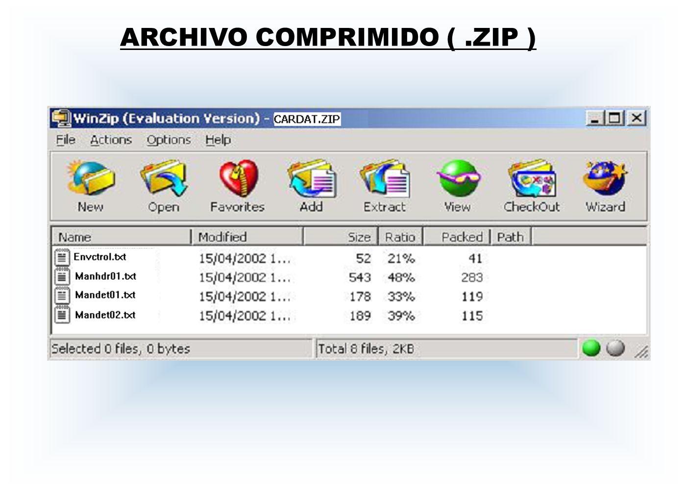 ARCHIVO COMPRIMIDO (.ZIP )