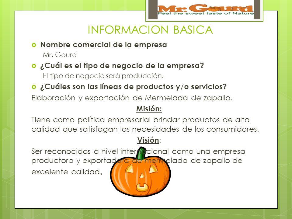 INFORMACION BASICA Nombre comercial de la empresa Mr.