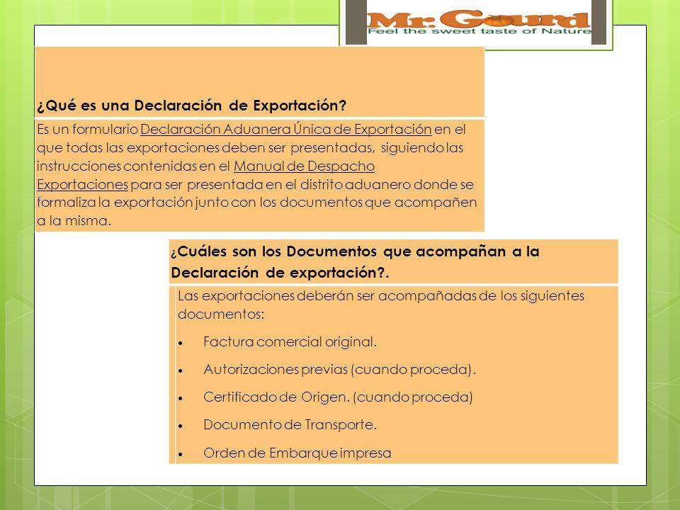¿Qué es una Declaración de Exportación.