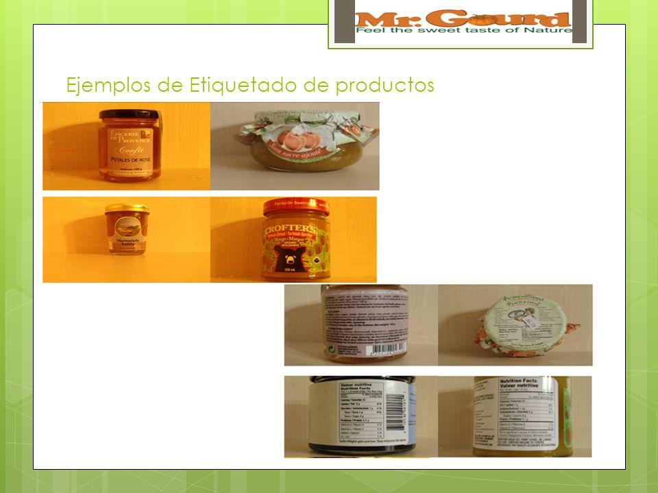 Ejemplos de Etiquetado de productos