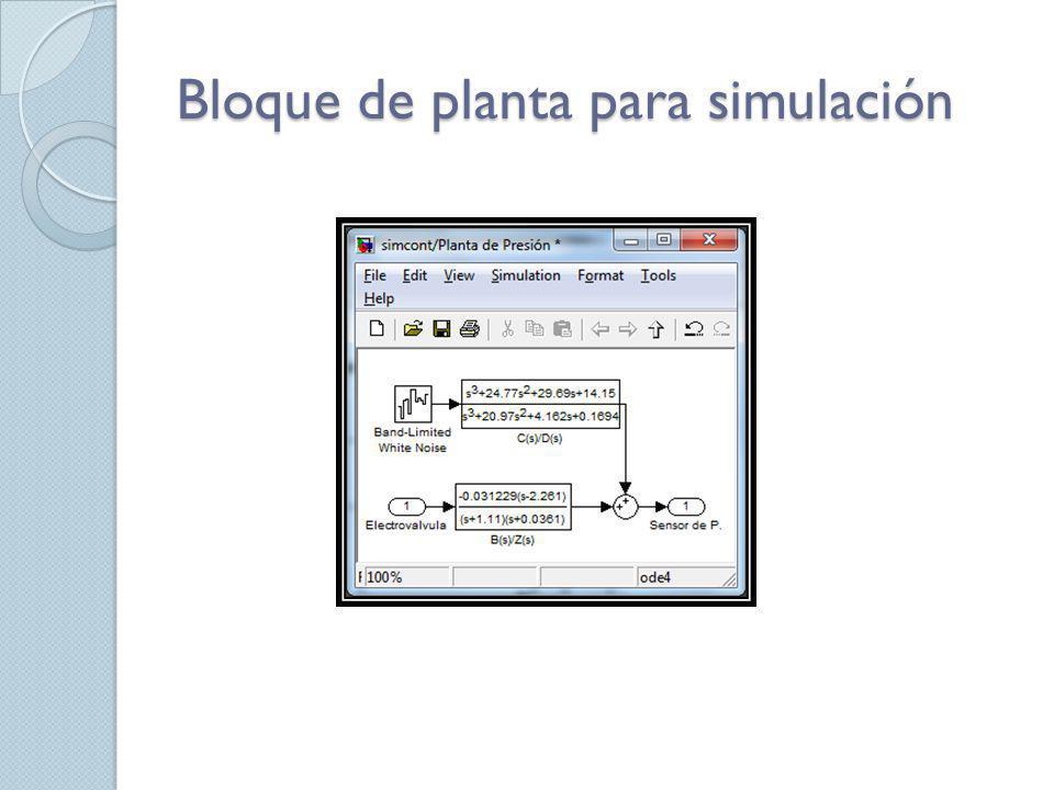 Bloque de planta para simulación