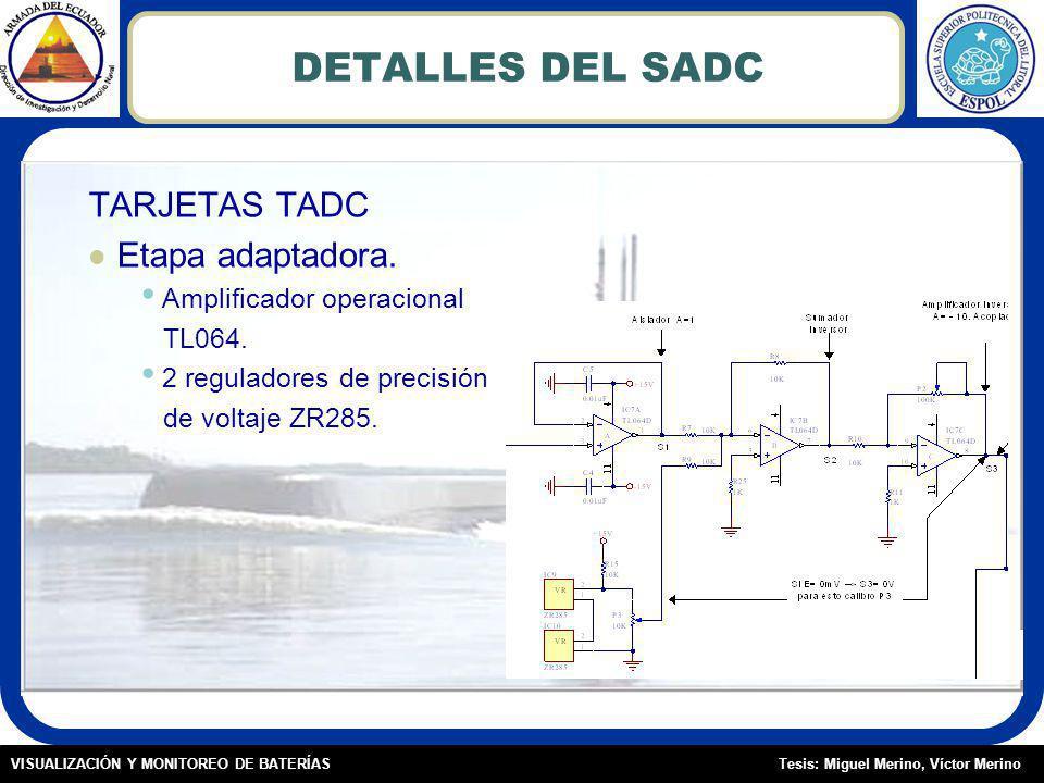 Tesis: Miguel Merino, Víctor MerinoVISUALIZACIÓN Y MONITOREO DE BATERÍAS DETALLES DEL SADC TARJETAS TADC Etapa adaptadora.