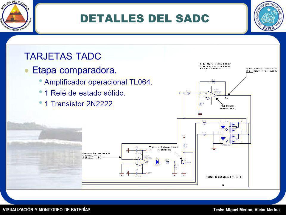 Tesis: Miguel Merino, Víctor MerinoVISUALIZACIÓN Y MONITOREO DE BATERÍAS DETALLES DEL SADC TARJETAS TADC Etapa comparadora.