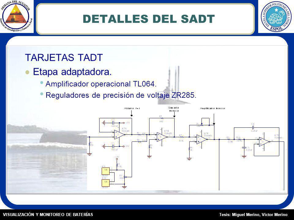 Tesis: Miguel Merino, Víctor MerinoVISUALIZACIÓN Y MONITOREO DE BATERÍAS DETALLES DEL SADT TARJETAS TADT Etapa adaptadora.