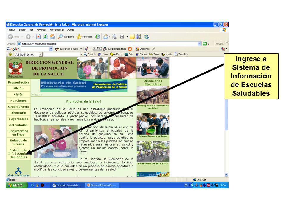 Ingrese a consultas Puede consultar por Instituciones Educativas Puede consultar por DISAS