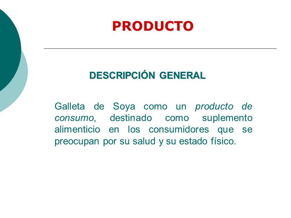 Galleta de Soya como un producto de consumo, destinado como suplemento alimenticio en los consumidores que se preocupan por su salud y su estado físic