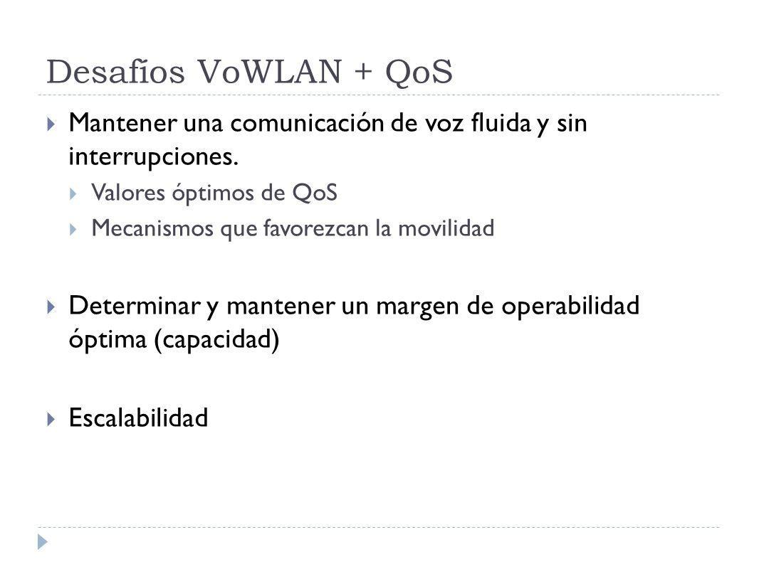 Desafíos VoWLAN + QoS Mantener una comunicación de voz fluida y sin interrupciones.