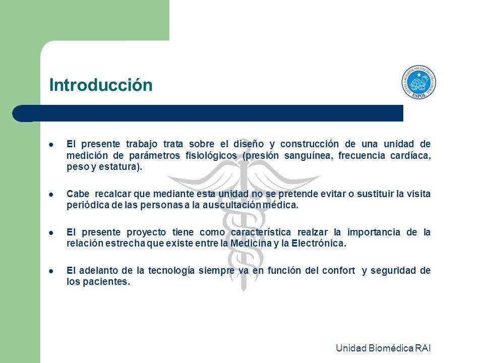 Unidad Biomédica RAI Inicialización