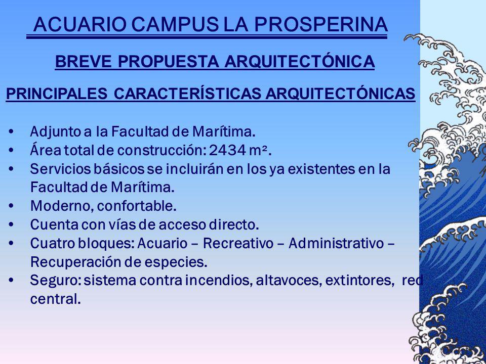 BREVE PROPUESTA ARQUITECTÓNICA PRINCIPALES CARACTERÍSTICAS ARQUITECTÓNICAS Adjunto a la Facultad de Marítima.