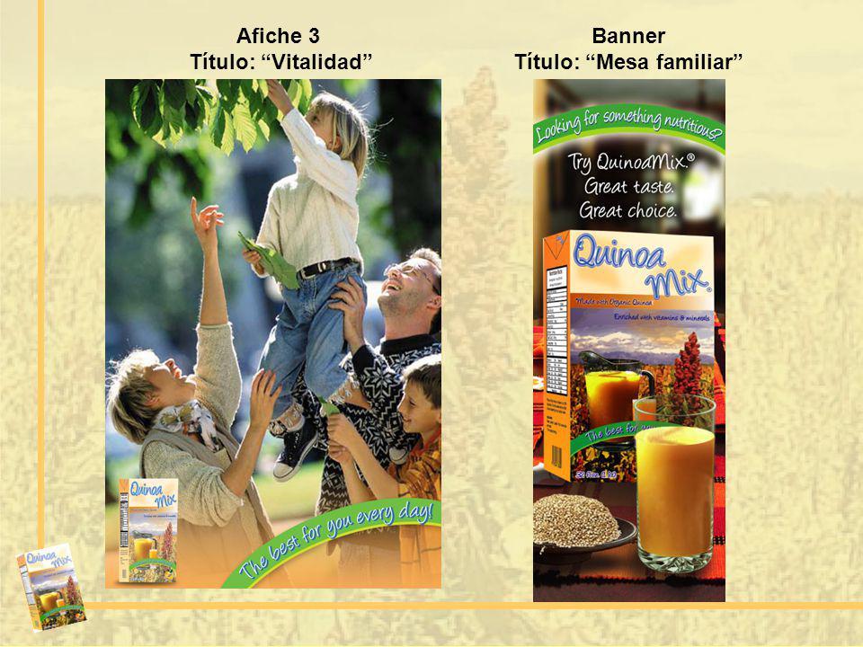 Afiche 3 Título: Vitalidad Banner Título: Mesa familiar