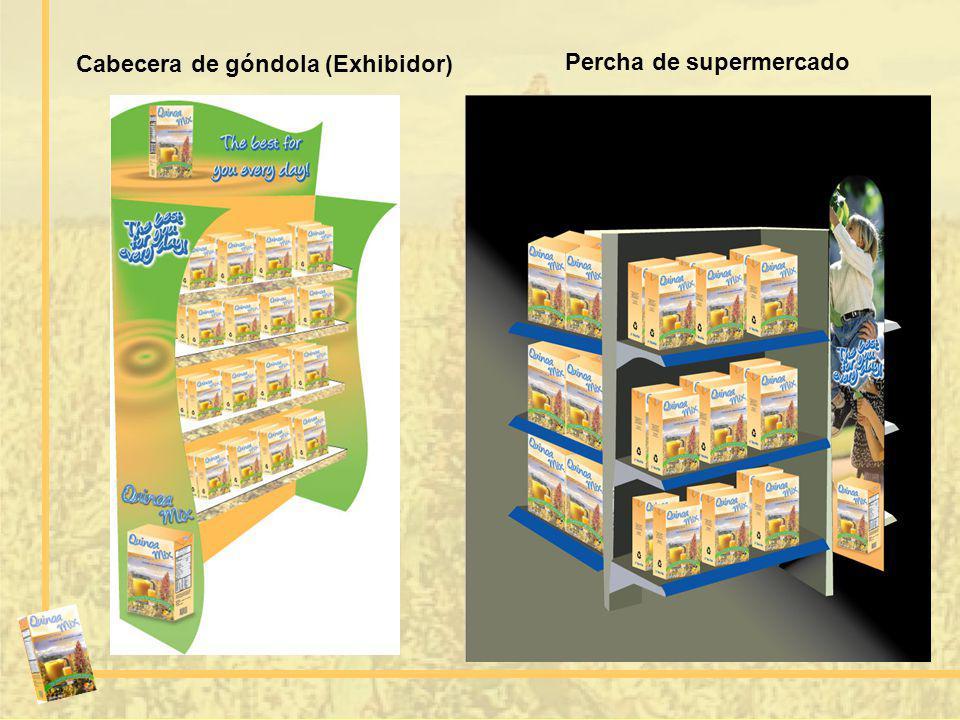 Percha de supermercado Cabecera de góndola (Exhibidor)