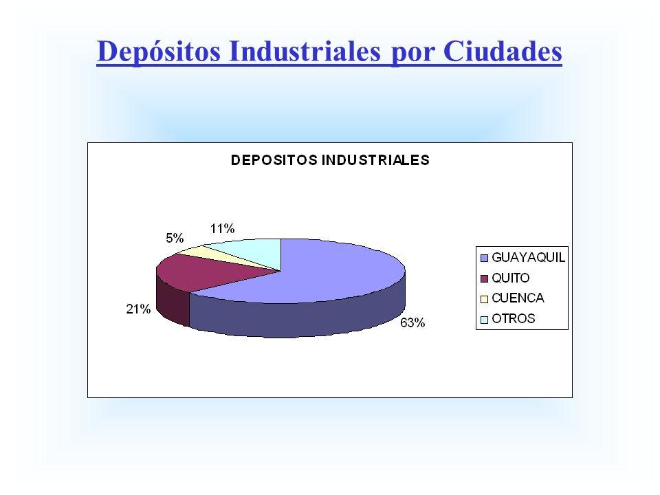 Depósitos Industriales por Ciudades