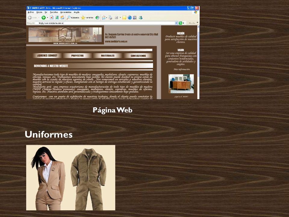 Uniformes Página Web