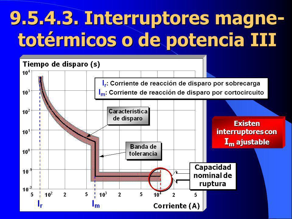 I r : Corriente de reacción de disparo por sobrecarga I m : Corriente de reacción de disparo por cortocircuito I r : Corriente de reacción de disparo