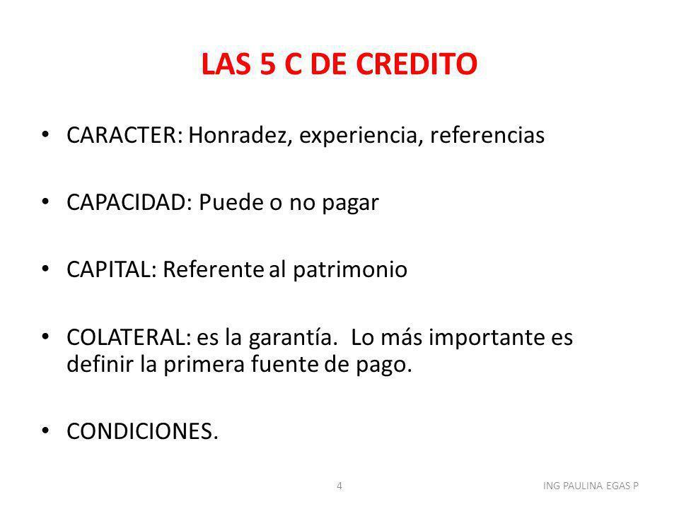 PROYECTOS CLASIFICACION: 1)NUEVOS PRODUCTOS O AMPLIACION DE LOS YA EXISTENTES 2)REPOSICION DE EQUIPOS O EDIFICIOS 3)INVESTIGACION Y DESARROLLO 4)EXPLORACION 5)EQUIPO DE CONTROL DE CONTAMINACION, ETC 45ING PAULINA EGAS P