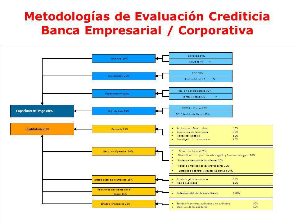 Ec. Ramiro Estrella C. Gestión de Riesgo Maestría en Finanzas y Administración Bancaria Universidad de San Francisco de Quito Metodologías de Evaluaci