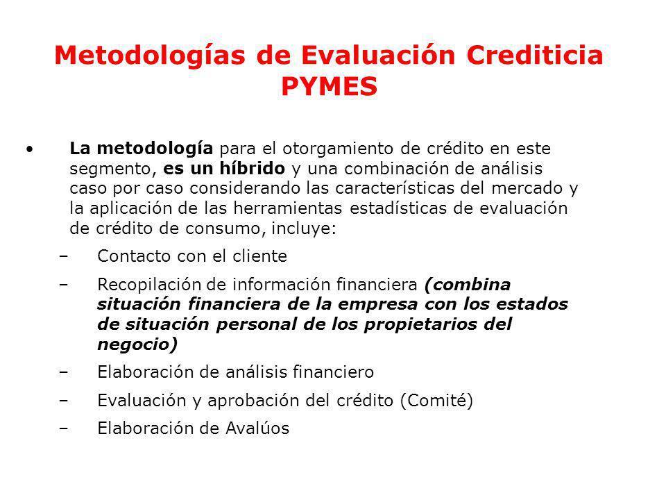 Ec. Ramiro Estrella C. Gestión de Riesgo Metodologías de Evaluación Crediticia PYMES La metodología para el otorgamiento de crédito en este segmento,