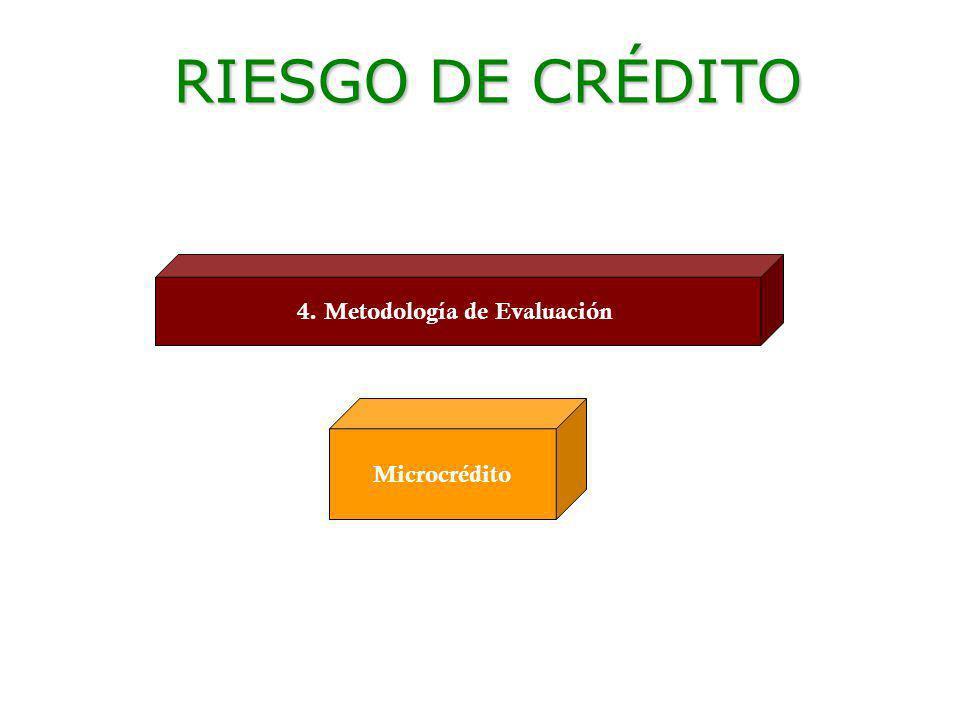 Ec. Ramiro Estrella C. Gestión de Riesgo 4. Metodología de Evaluación Microcrédito RIESGO DE CRÉDITO