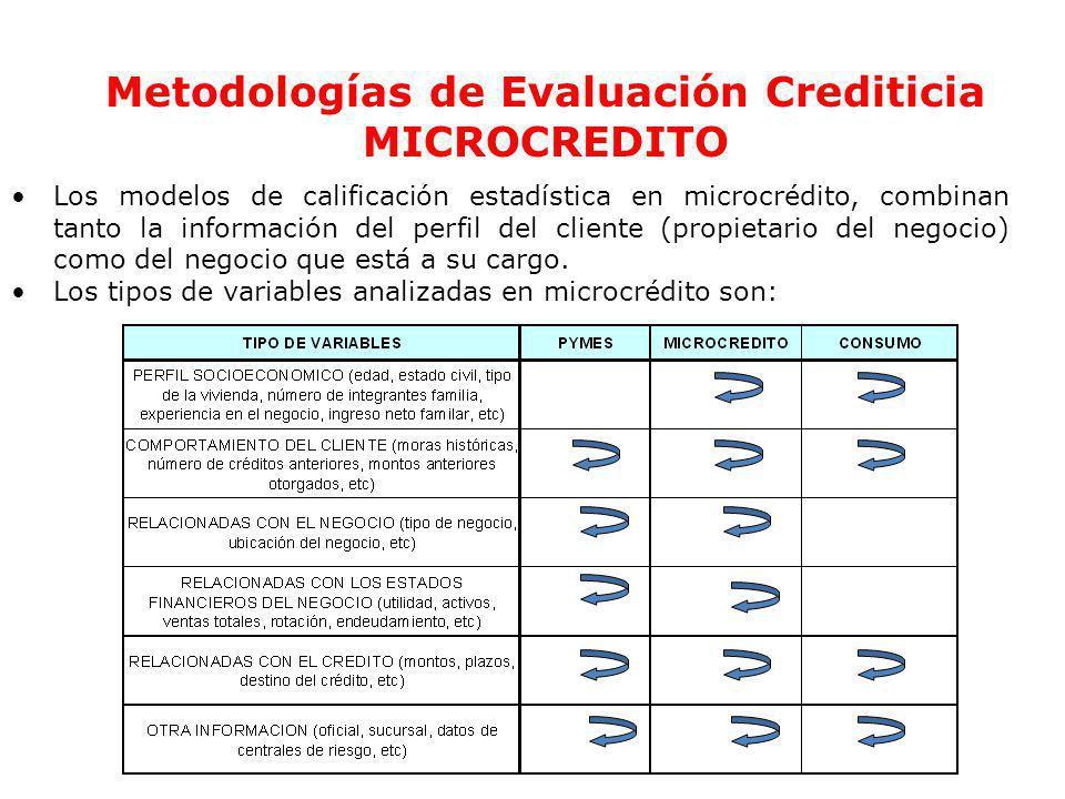Ec. Ramiro Estrella C. Gestión de Riesgo Metodologías de Evaluación Crediticia MICROCREDITO Los modelos de calificación estadística en microcrédito, c