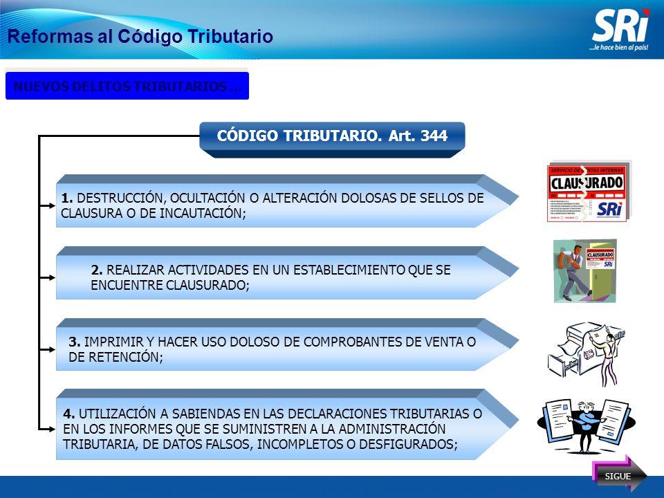 15 Reformas al Código Tributario NUEVOS DELITOS TRIBUTARIOS...