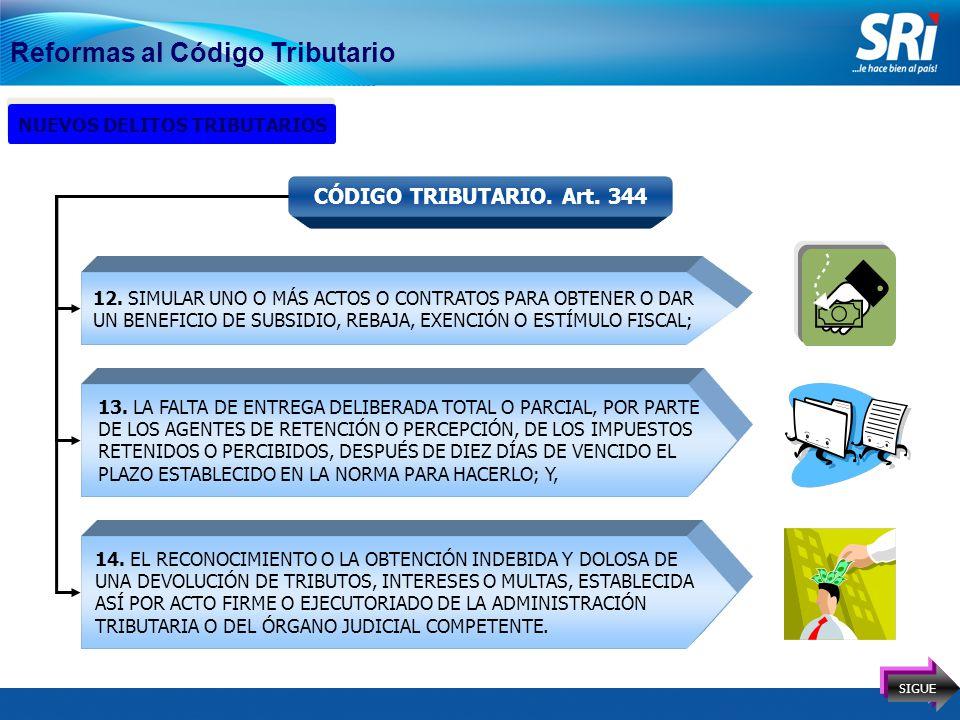 17 Reformas al Código Tributario NUEVOS DELITOS TRIBUTARIOS CÓDIGO TRIBUTARIO.