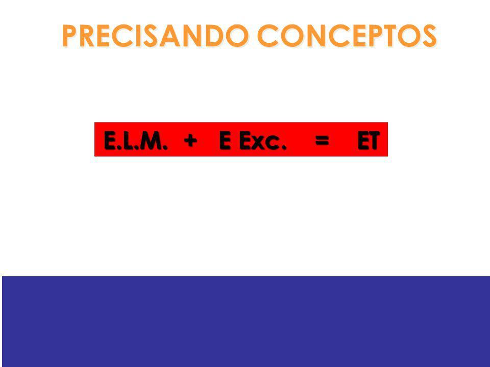 E.L.M. + E Exc. = ET PRECISANDO CONCEPTOS