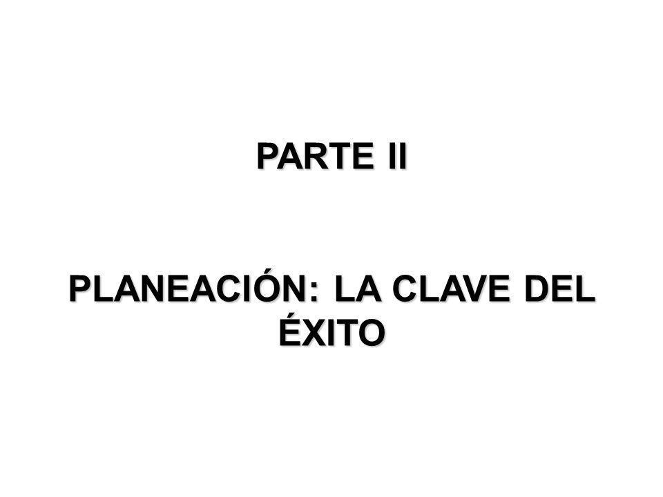 PARTE II PLANEACIÓN: LA CLAVE DEL ÉXITO