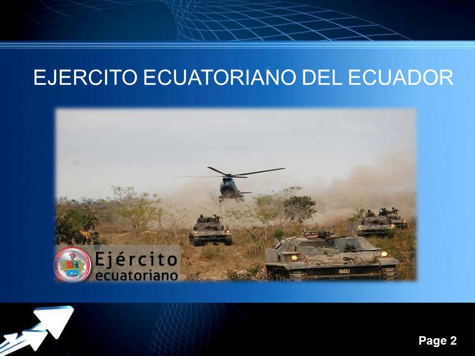 Page 2 EJERCITO ECUATORIANO DEL ECUADOR