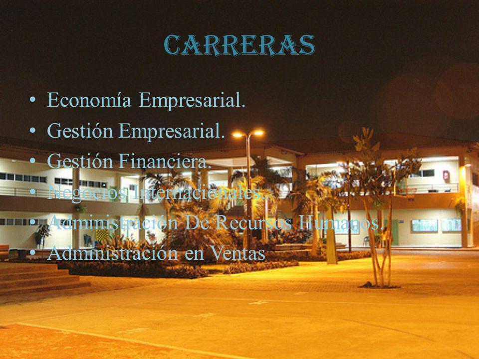 Carreras Economía Empresarial. Gestión Empresarial.