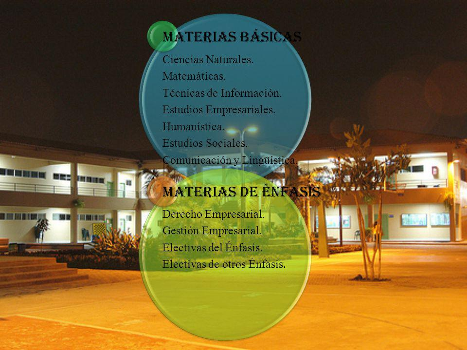 Materias Básicas Ciencias Naturales. Matemáticas.