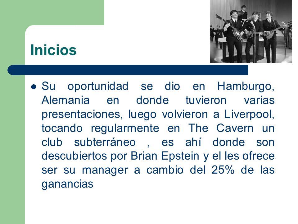 Inicios Su oportunidad se dio en Hamburgo, Alemania en donde tuvieron varias presentaciones, luego volvieron a Liverpool, tocando regularmente en The