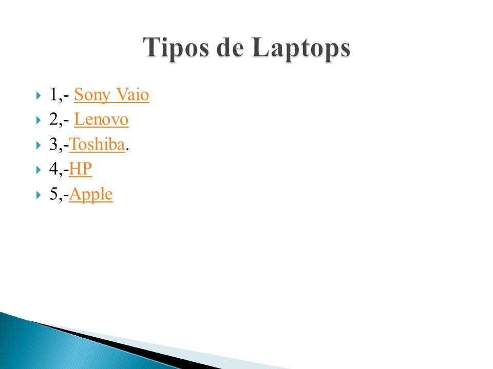 1,- Sony VaioSony Vaio 2,- LenovoLenovo 3,-Toshiba.Toshiba 4,-HPHP 5,-AppleApple
