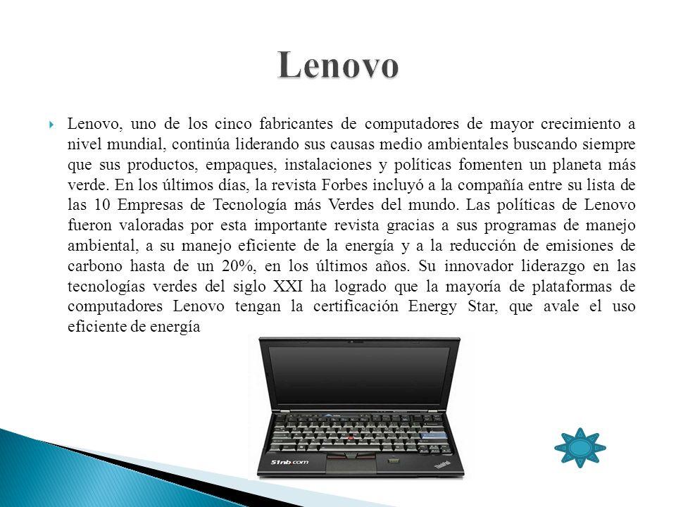 Lenovo, uno de los cinco fabricantes de computadores de mayor crecimiento a nivel mundial, continúa liderando sus causas medio ambientales buscando si
