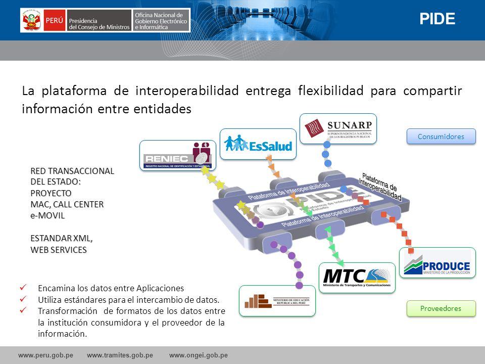 www.peru.gob.pe www.tramites.gob.pe www.ongei.gob.pe ONGEI dicta la normatividad referente a Gobierno Electrónico y el Sistema Nacional de Informática