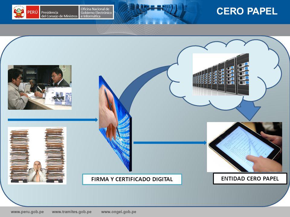 www.peru.gob.pe www.tramites.gob.pe www.ongei.gob.pe www.pecert.gob.pe Incorporado como CSISRT Nacional para Perù en el CERT CC