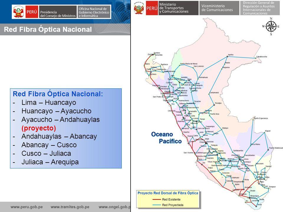 www.peru.gob.pe www.tramites.gob.pe www.ongei.gob.pe 10% de aumento de las conexiones de Banda Ancha incrementa el crecimiento económico de un país en