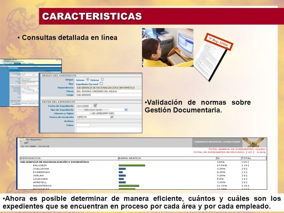 Consultas detallada en línea Ahora es posible determinar de manera eficiente, cuántos y cuáles son los expedientes que se encuentran en proceso por ca