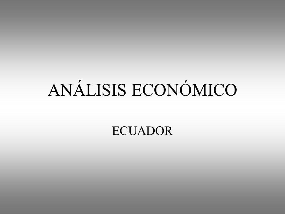ANÁLISIS ECONÓMICO ECUADOR