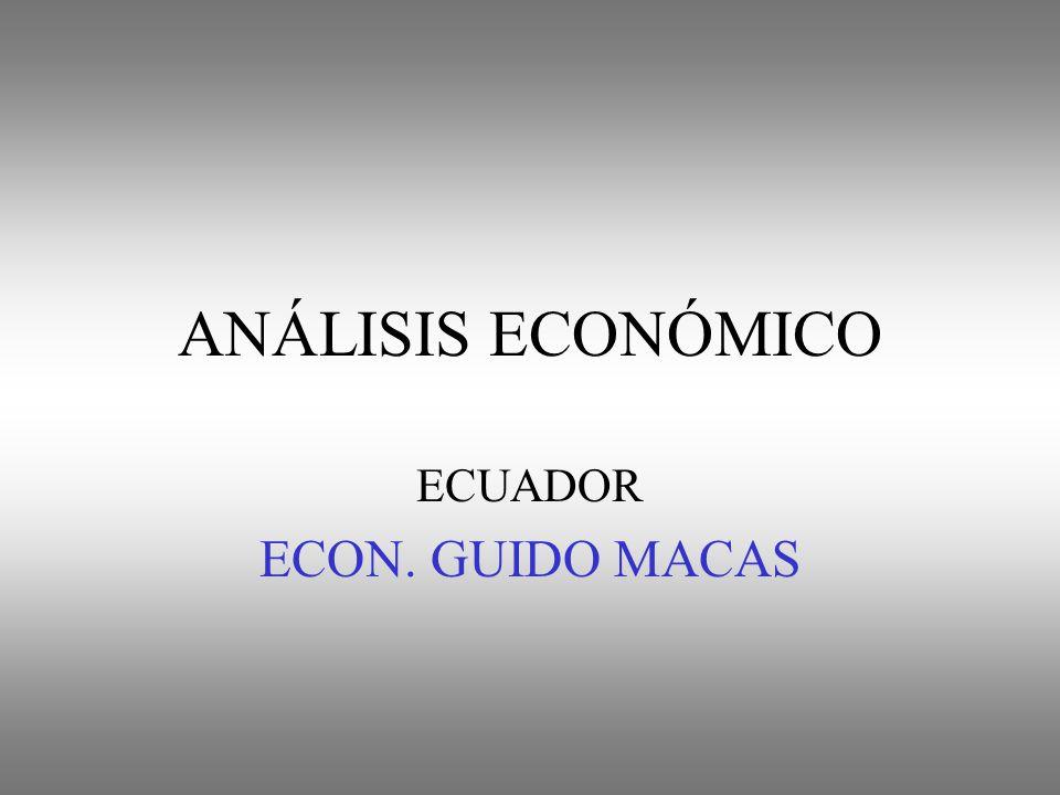 ANÁLISIS ECONÓMICO ECUADOR ECON. GUIDO MACAS