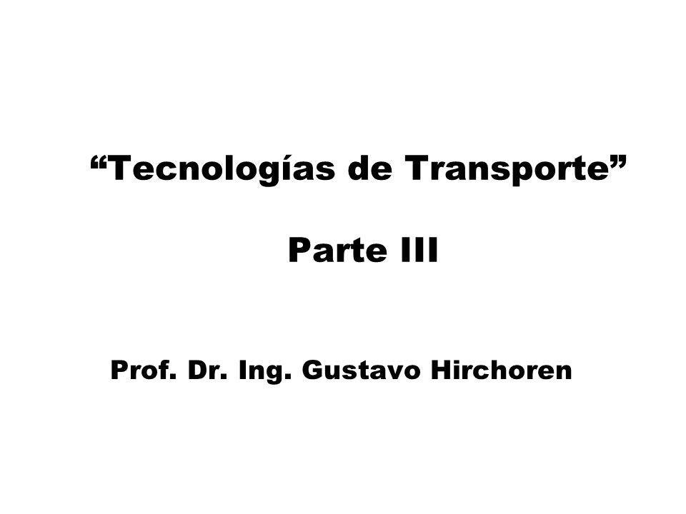 Tecnologías de Transporte Parte III Prof. Dr. Ing. Gustavo Hirchoren