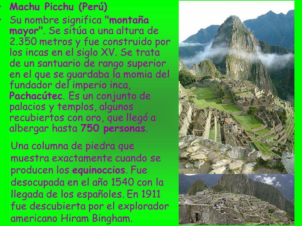 Machu Picchu (Perú) Su nombre significa