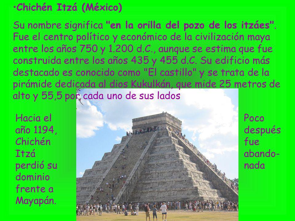 Chichén Itzá (México) Su nombre significa