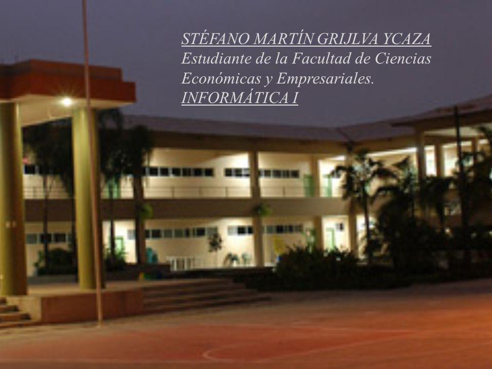 STÉFANO MARTÍN GRIJLVA YCAZA Estudiante de la Facultad de Ciencias Económicas y Empresariales.