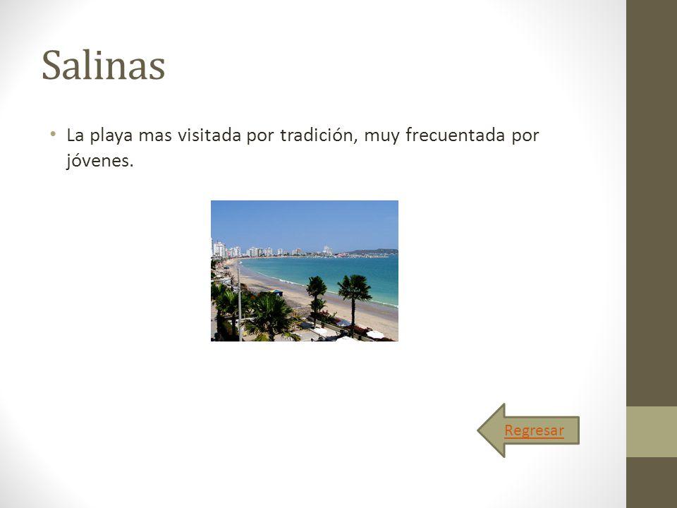 Salinas La playa mas visitada por tradición, muy frecuentada por jóvenes. Regresar
