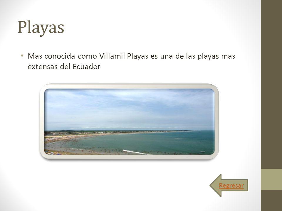 Playas Mas conocida como Villamil Playas es una de las playas mas extensas del Ecuador Regresar